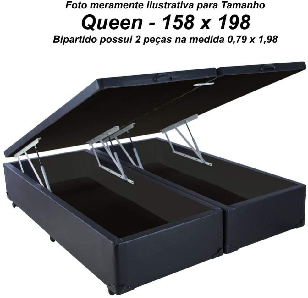 Cama Box Baú Queen Size em Corino