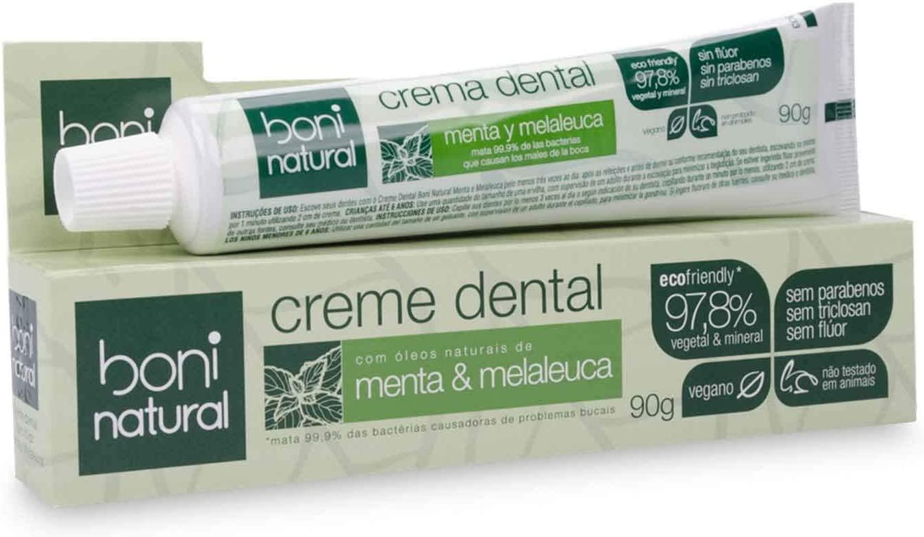 Creme Dental com óleos naturais